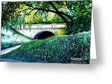 Bridge To New York Greeting Card