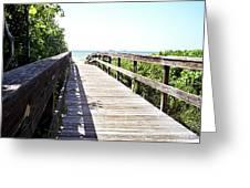 Bridge To Paradise Gp Greeting Card