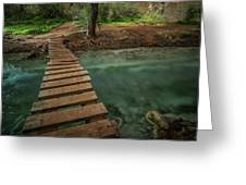 Bridge To Paradise Greeting Card