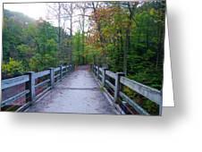 Bridge To Paradise - Wissahickon Valley Greeting Card