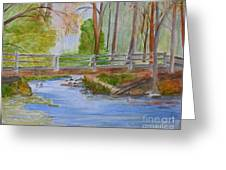 Bridge To Serenity   Smithgall Woods State Park Greeting Card