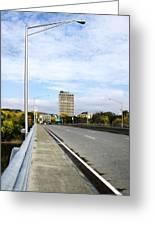 Bridge To The City Binghamton New York Greeting Card
