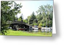 Bridge To The Club Greeting Card