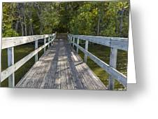 Bridge To Woods 1 Greeting Card