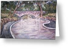 Bridge Wading Pool Greeting Card