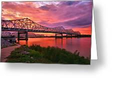 Bridges At Sunrise II Greeting Card