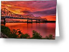 Bridges At Sunrise Greeting Card by Steven Ainsworth
