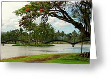 Bridges At Wailoa Greeting Card
