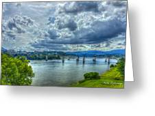 Bridges Of Chattanooga Tennessee Greeting Card