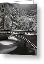 Bridges Of Multnomah Falls Greeting Card