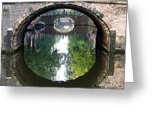 Bridges On Herengratch Canal In Amsterdam. Netherlands. Europe Greeting Card