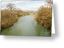 Bridges Over The Guadalupe Greeting Card