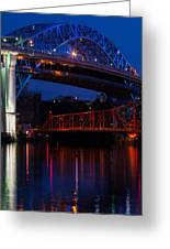 Bridges Red White And Blue Greeting Card