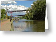 Bridges Spanning The Rondout Greeting Card