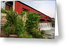 Bridgeton Covered Bridge - Indiana Square Art Greeting Card