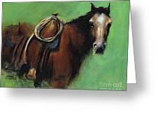 Bridle Ready Greeting Card