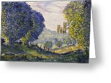 Bridlington Priory From Woldgate On The Hockney Trail Greeting Card