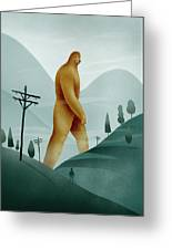 Brief Encounter With The Tall Man Greeting Card