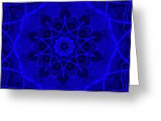 Brigadoon No. 1 Neon Blue Greeting Card