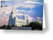 Brigham City Utah Temple Greeting Card