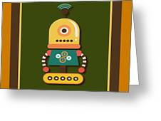 Bright And Colorful Robot Toy Greeting Card