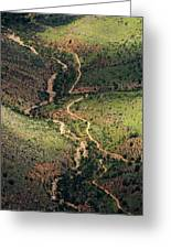 Bright Angel Trail Abstract Greeting Card