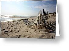 Bright Beach Morning Greeting Card