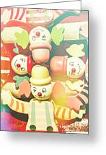 Bright Beaming Clown Show Act Greeting Card