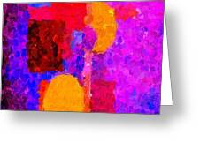 Bright Colours Abstract Greeting Card