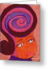 Bright Eyed Beauty Greeting Card