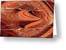Bright Fantasies Of Delightful Orange Greeting Card