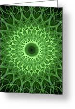 Bright Green Mandala Greeting Card