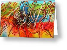 Bright Jazz Greeting Card