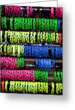 Bright Leather Bracelets Greeting Card