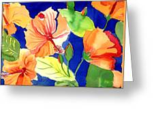 Bright Orange Flowers Greeting Card