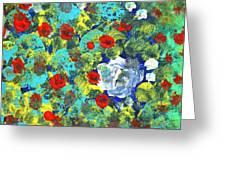 Bright Roses Greeting Card