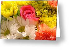 Bright Spring Flowers Greeting Card by Amy Vangsgard