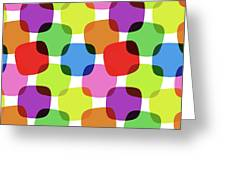 Bright Squares Greeting Card
