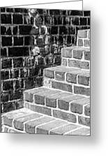 Bright Steps Dark Wall Greeting Card