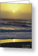 Bright Sunrise Reflection - 2 Greeting Card