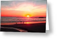 Bright Sunset Greeting Card