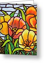 Bright Tulips Greeting Card