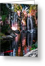 Bright Waterfalls Greeting Card