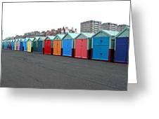 Brighton Beach Huts Greeting Card