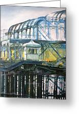 Brighton's West Pier-lone Survivor Greeting Card