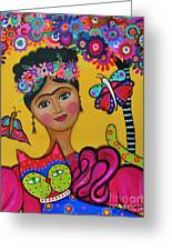 Brigit's Frida And Cat Greeting Card