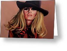 Brigitte Bardot Painting 1 Greeting Card