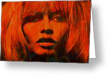 Brigitte Bardot Love Pop Art Greeting Card