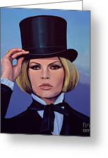 Brigitte Bardot Painting 2 Greeting Card
