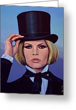Brigitte Bardot Painting 2 Greeting Card